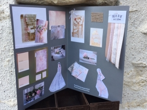 wedding book - thème rose et rose poudré