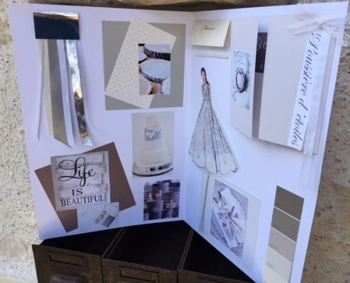 Wedding book - thème gris et blanc