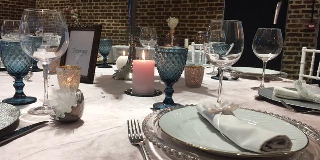 zoom table romantique