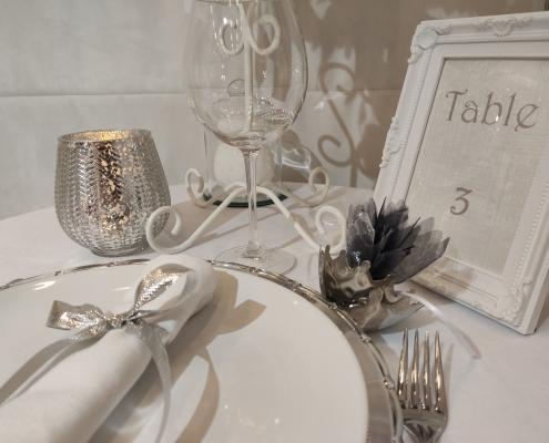 Centre de table romantique hivernal